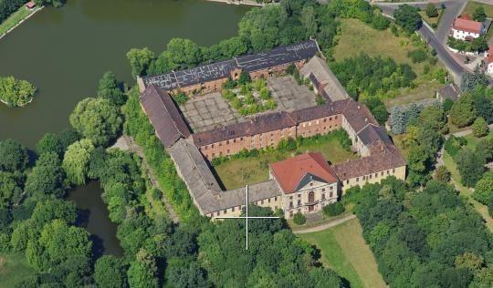 Das Schloss in Wölkau.