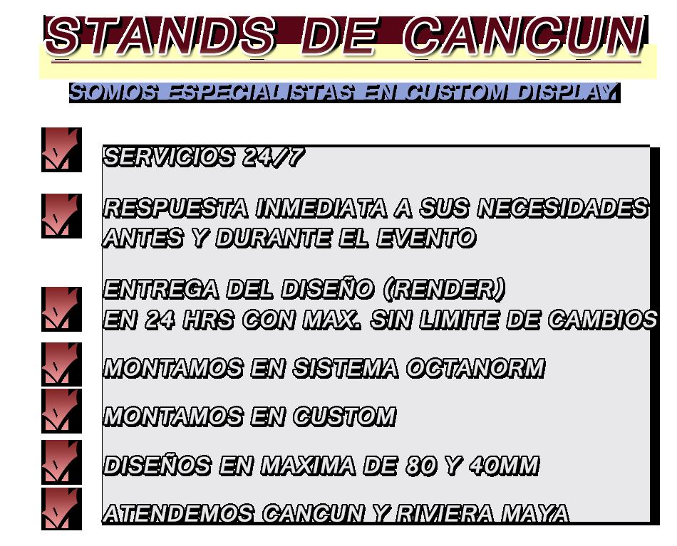 los mejores stands de Cancún