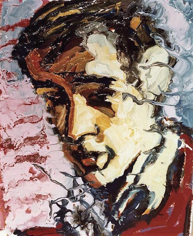 Antoine, laque industrielle sur toile, 130x162, collection particulière, Paris