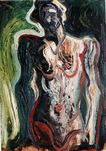 Le squelette,92x65, 1978, huile sur toile