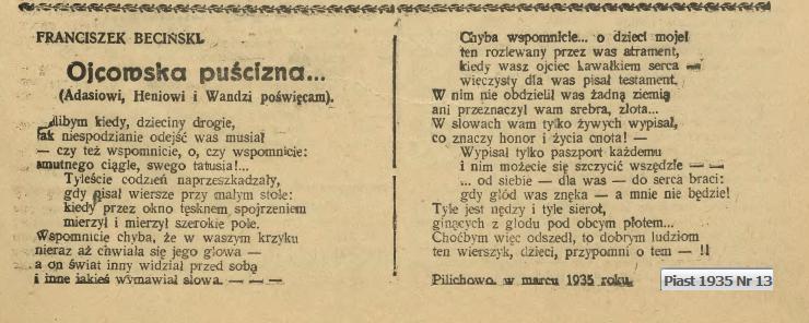 Beciński Franciszek Kujawy Zachodnie