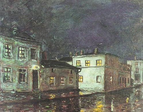 ul. Wałowa nocą