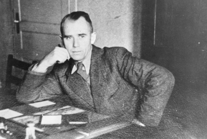 Herman Baltruschat - gestapowiec, oprawca. Odpowiedzialny za przesłuchania więźniów.