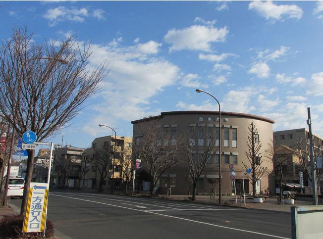 東伏見コミュニティセンター 関前橋交差点・千川上水側から撮影