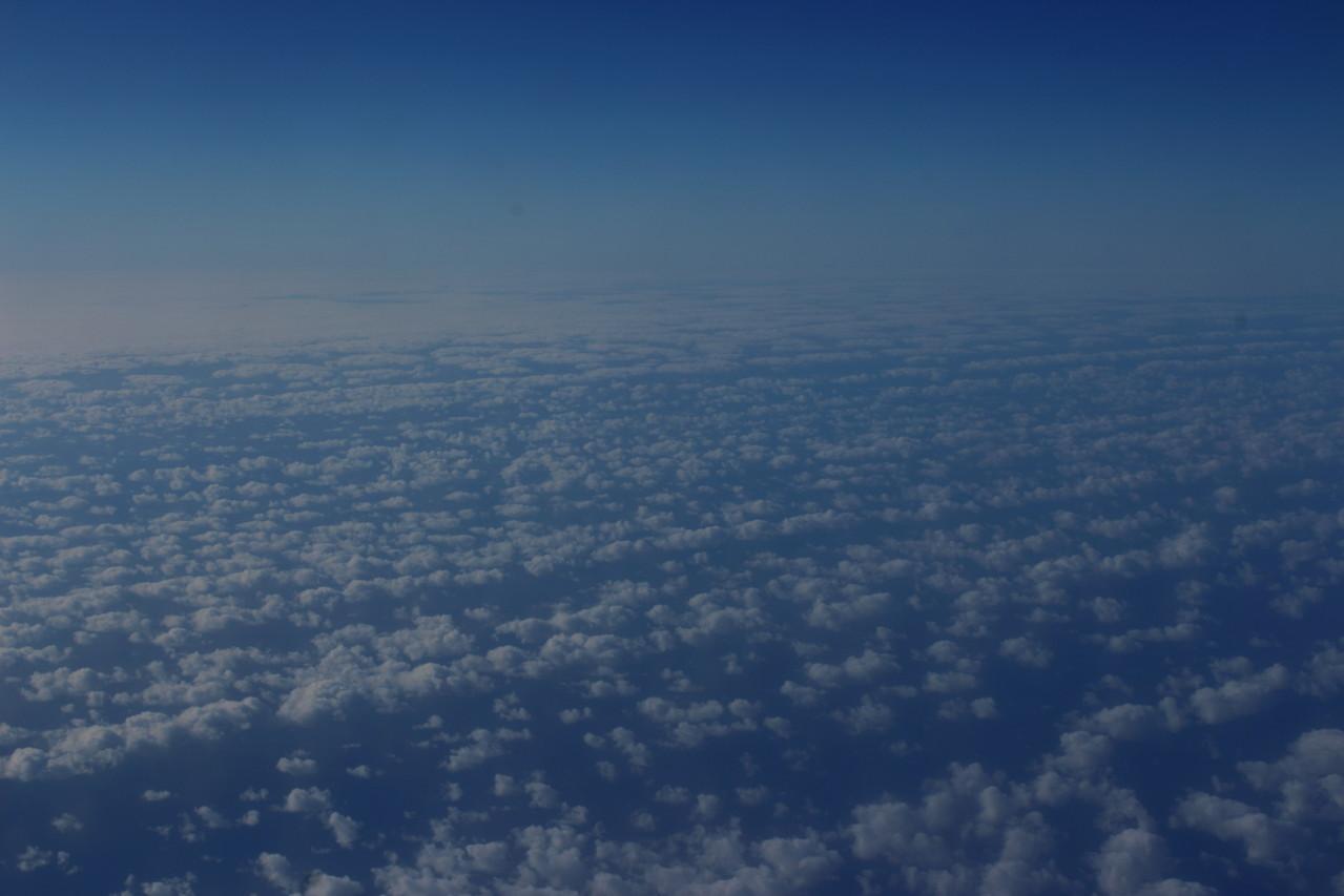 Mer de nuages au dessus de l'Atlantique - été 2013 © Florian Bernier