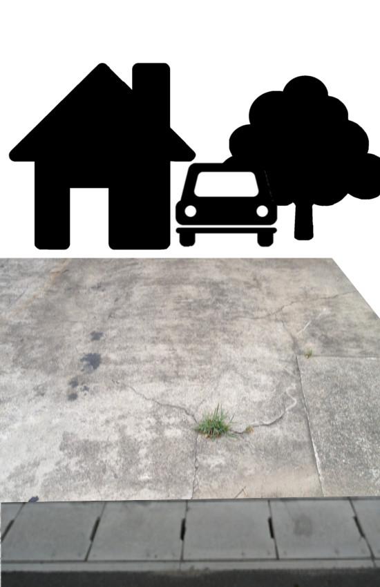 駐車場 リフォーム ストーン デメリット ローラー エクステリア 乱形石 モルタル造形 ガレージハウス ガレージライフ