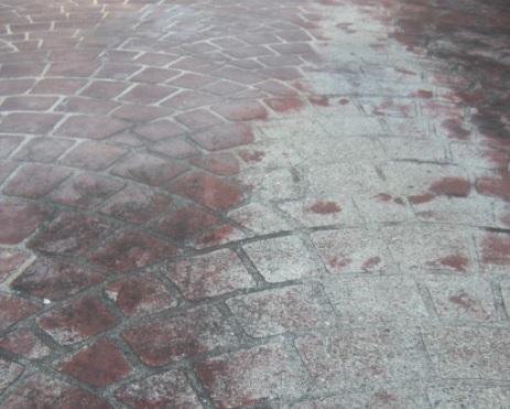 デザインコンクリート スタンプコンクリート ファンタジーコンクリート ステンシルコンクリート モルタル造形 デメリット 失敗 劣化 剥がれ はがれ 色落ち 色褪せ 耐久性 経年変化 コニファー タフテックス 評判 口コミ クチコミ 評価 庭 外構 外溝 エクステリア 塀 駐車場