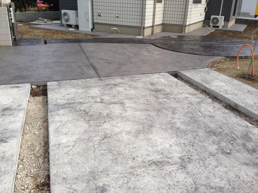 デザインコンクリートスタンプコンクリートファンタジーコンクリートステンシルコンクリートモルタル造形 (2)