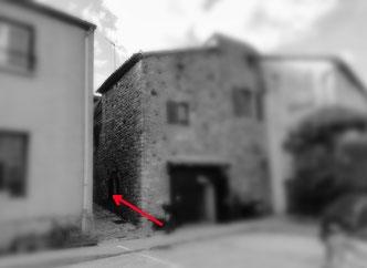 """Ruelle allant vers la rue d'en bas et aussi aux chambres et table d'hôtes """"Les Jardins du Couvent """" 2013"""