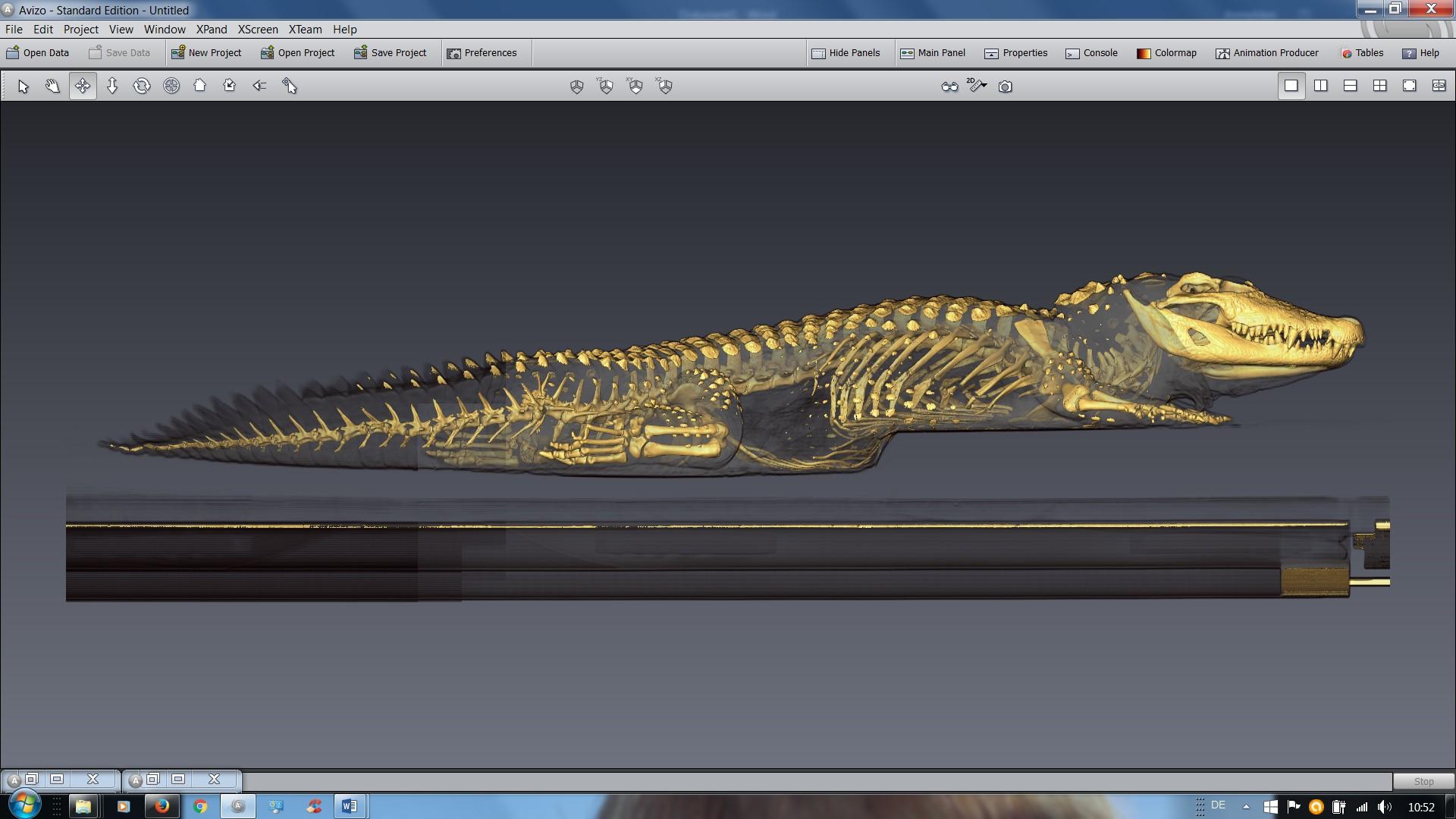 Planung der Skelettmontage mittels CT-Scan
