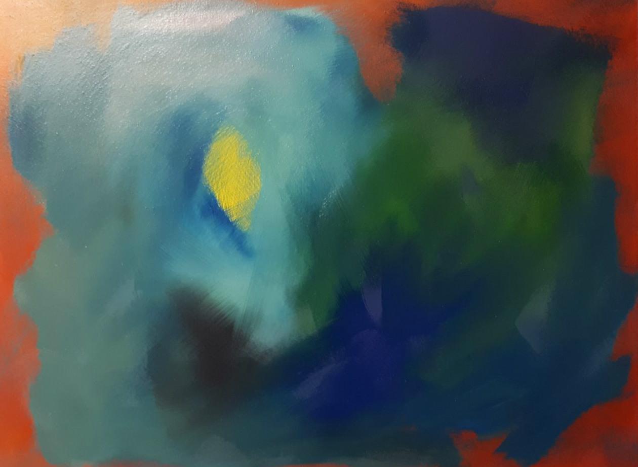 """""""Schein"""" - Acryl auf Malpappe ohne Rahmen, 80x60 cm"""