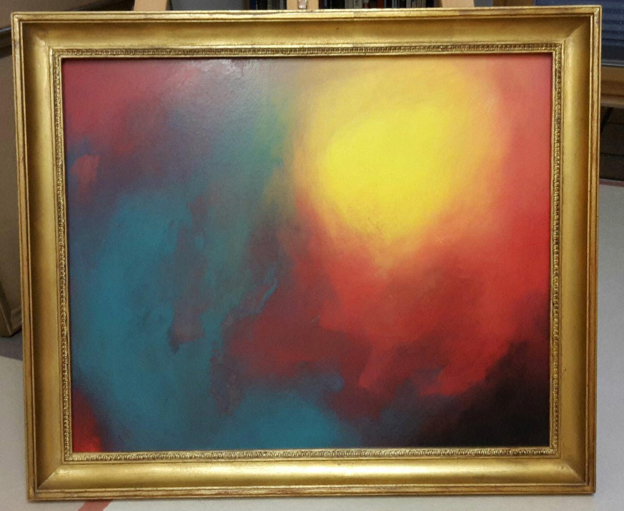 """""""Wärme"""" - Acryl auf Malpappe ohne Rahmen, 60x55 cm"""