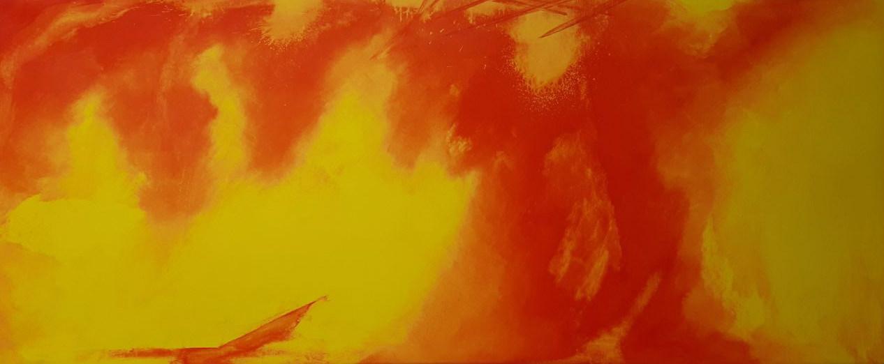 """Kräfte"" - Acryl auf Malpappe inkl. Keilrahmen, 145x60 cm"