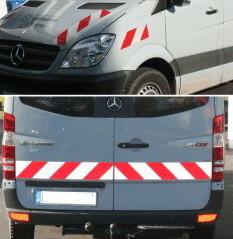 Warnmarkierung Baufahrzeuge