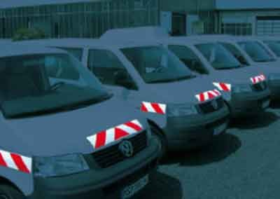 Warnmarkierung Lieferfahrzeuge