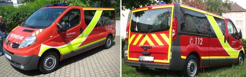 Warnmarkierung Feuerwehr