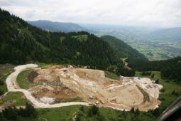 Der Garlandhang vor und während der Bauarbeiten