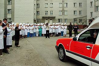 Foto: Gemeinnützige Stiftung Hof Schlüter, Lüneburg: Spendenaktion - ein Rettungswagen für ein Krankenhaus in Bila Zerkwa, Ukraine