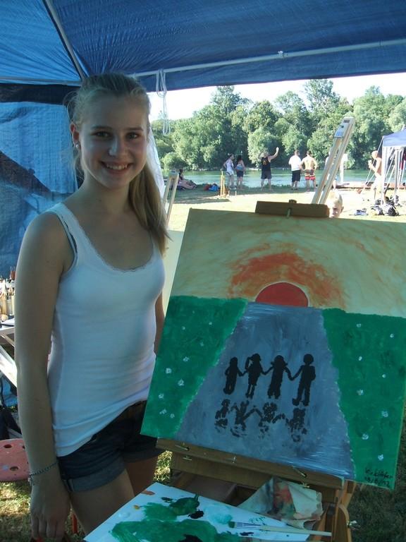 Katharina und ihr Bild ´´Familienglück´´