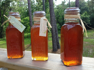 Local Raw Honey in glass bottle