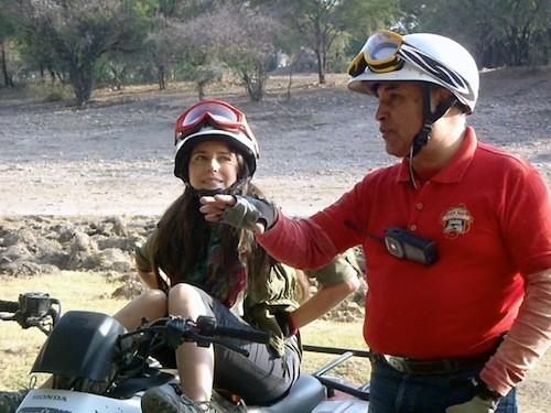 """Ana Claudia Talancón y Arturo Morales Tirado en la filmación de """"Soy Guanajuato"""""""
