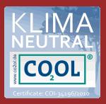 Cosalus ist Klimaneutral (über co2ol) und zertifiziert