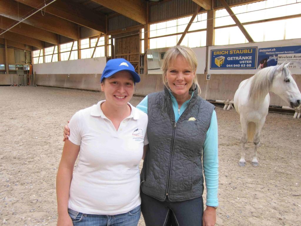 Linda Parelli auf einem Kurs in der Schweiz
