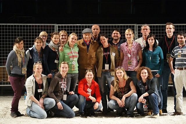 Gruppenfoto mit Monty Roberts