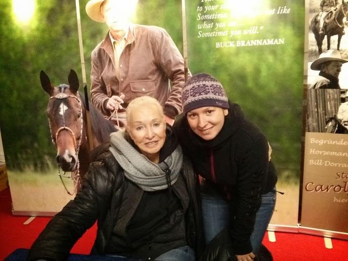 Martina mit Carolyn Hunt (Frau des legendären Horsemanship-Begründers Ray Hunt)