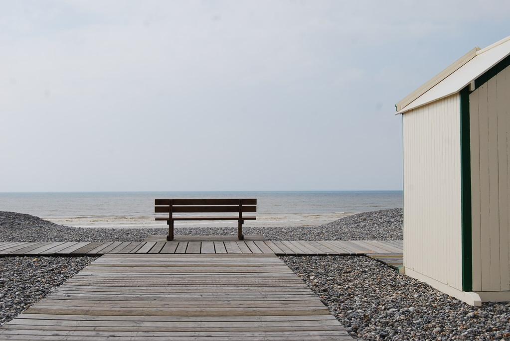 Banc face au large à Cayeux sur mer