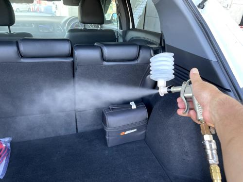 洗車 松山 松前町 キーパーラボ オートバックス セルフ松前SC前給油所 室内清掃 除菌抗菌