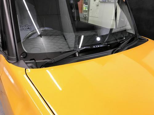 洗車 松山 新車コーティング スズキ ハスラー フッ素ガラスコーティング