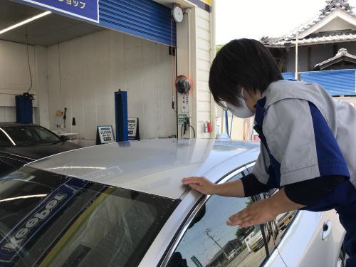 洗車 松山 新車コーティング 再施工 鉄粉落とし ボディのザラザラの原因