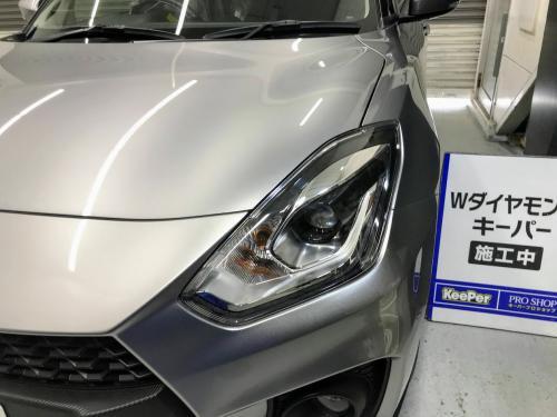 洗車 松山 新車コーティング レンズコーティング ヘッドライト