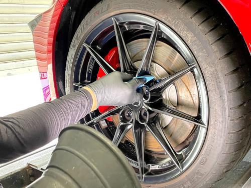 洗車 松山 キーパーラボ キーパーコーティング ホイールコーティング2