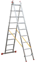 Escalera transformable 2 tramos