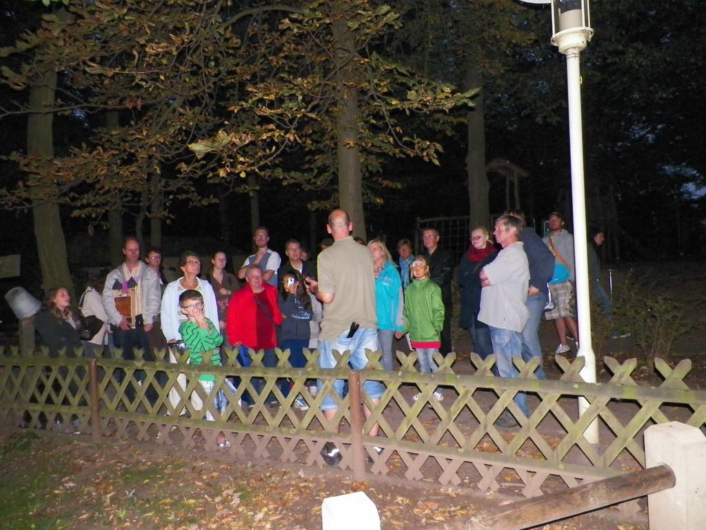 Am Abend wurden die Gäste in drei Grupen aufgeteilt, um Fledermäuse zu beobachten