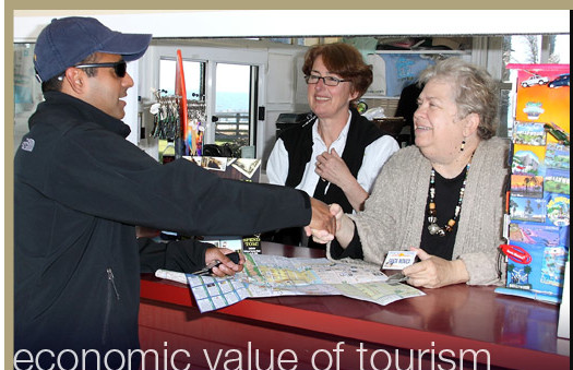 Santa Monica Mayor Pam O'Connor & SMCVB Travel Counselor Tessa Gogol - Photo by Fitz Carlil