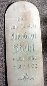 Jean Baptiste Stahl Phanolith Porzellan Relief Cameo Mettlach Saar Villeroy Boch Grabplatte