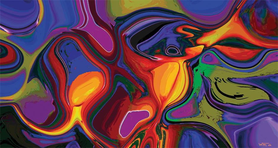 Kunstwerk: Abstraktion Wasser