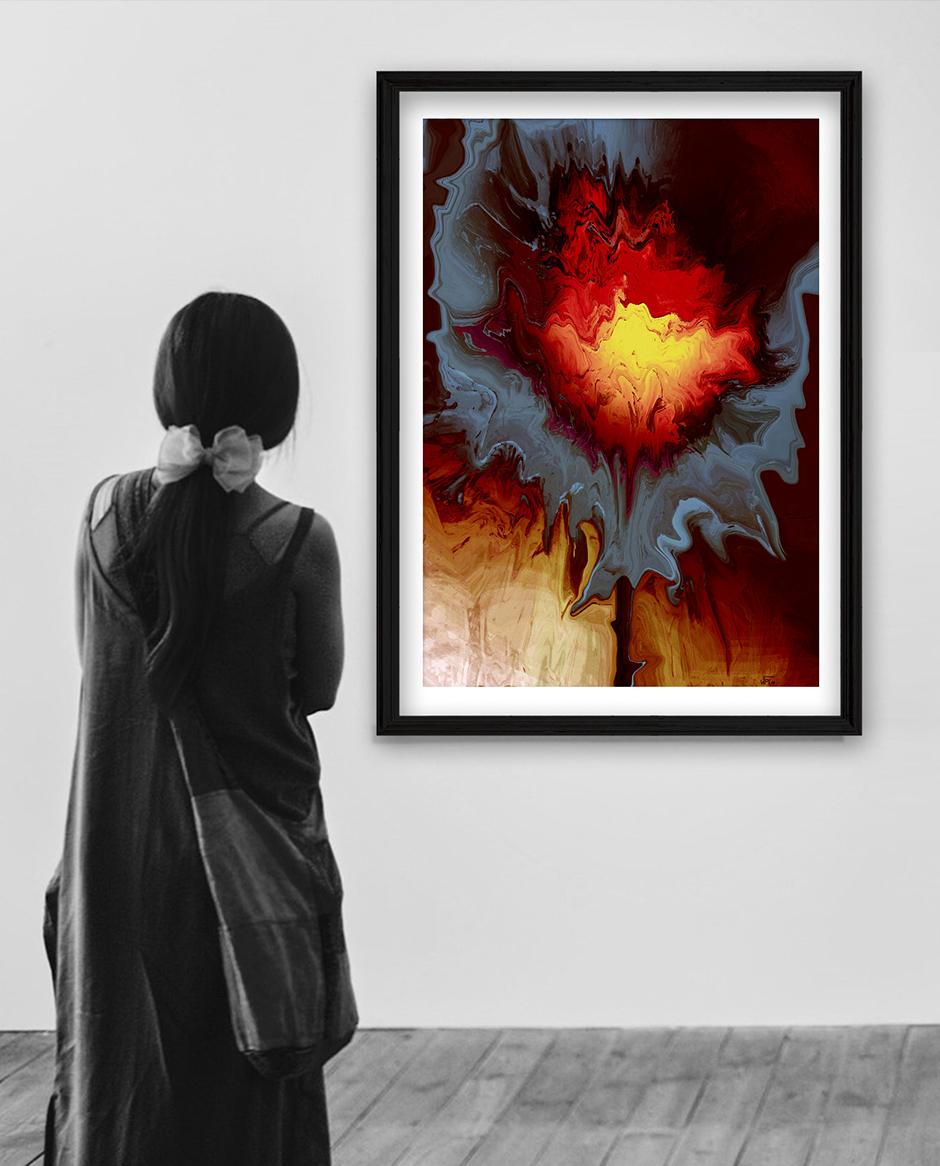 Wohnbeispiel, Kunstwerk: Feuerblume