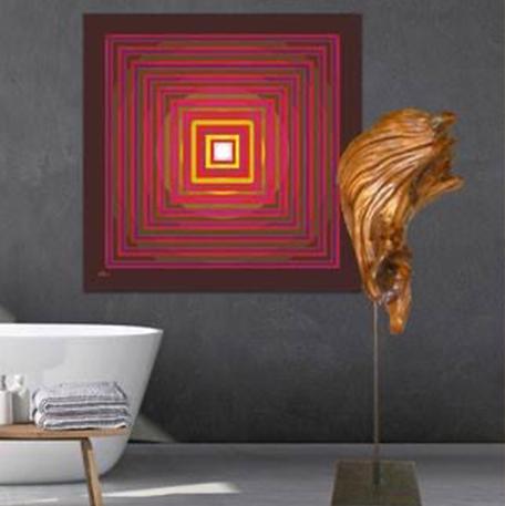 Zirbenskulptur: Ikarus, Kunstwerk: Energiegenerator 4te Dimension