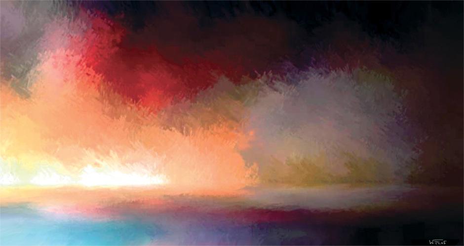 Kunstwerk: Energie im Ozean