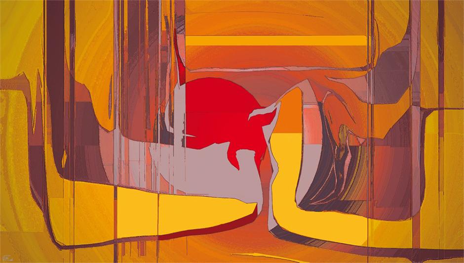 Kunstwerk: Orange