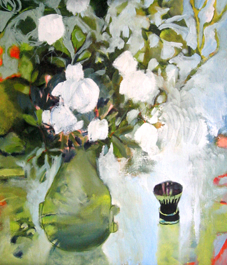 Les roses blanches–2002–50 × 60 cm