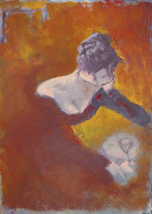 Pensive  - 1996  50X60 cm