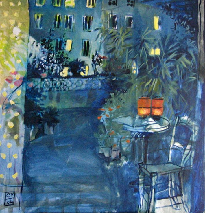 Terrasse la nuit - 2004 - 100 x 100 cm