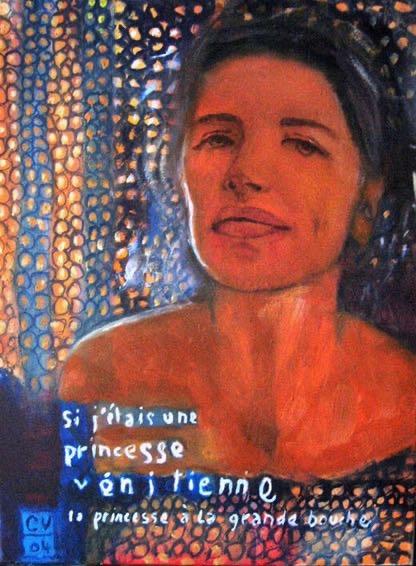 La princesse - 2004. 40X50 cm