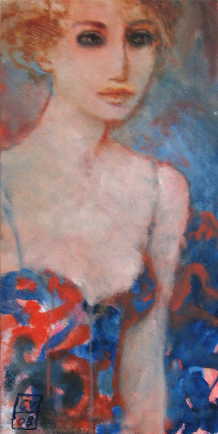Les yeux charbons - 2008 - 30 x 60 cm