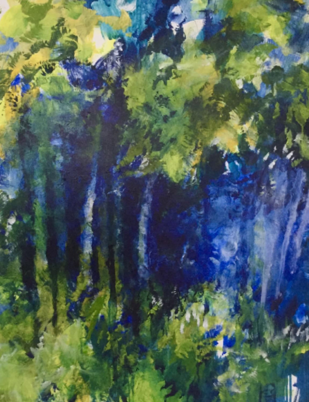 Forêt bleu 2020- 100x70 cm